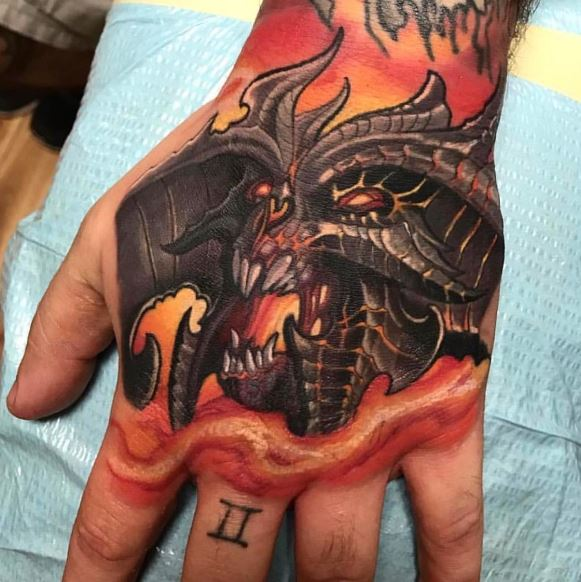 Dragon Tattoos On Hand