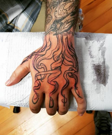 Tattoos On Hand