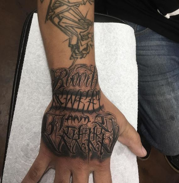 Word Hand Tattoos