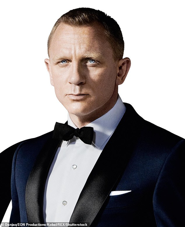 A promotional image for 007 movie with Daniel Craig looking much more familiar to fans