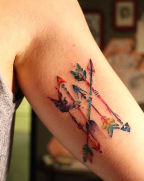 Watercolor Arrows by Becka Schoedel