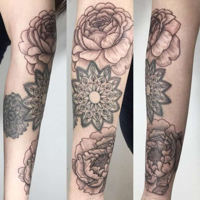 mandala sleeve tattoo