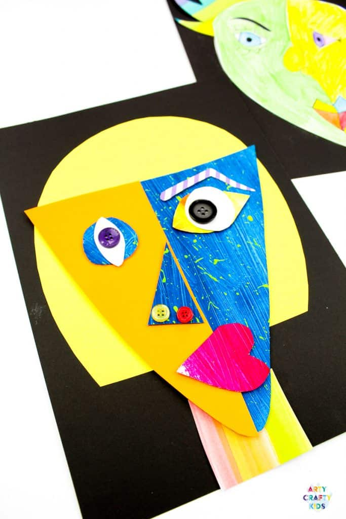 Picasso Faces - Easy Art for Kids. A Picasso art project made easy for kids and teachers, with print