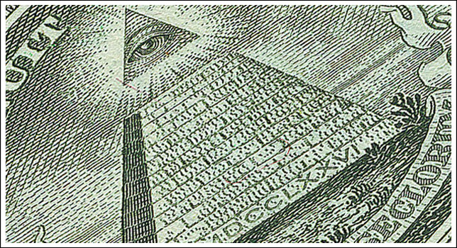 The All-Seeing Eye as seen on the United States one dollar note.