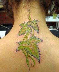 тату листья