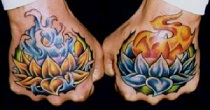 Перевод татуировок на запястье