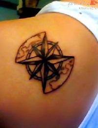 Роза ветров значение татуировки