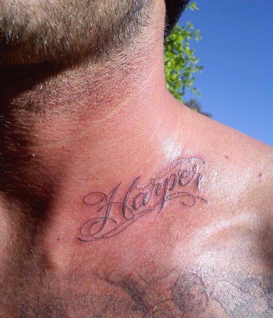 мужские тату надписи на ключице