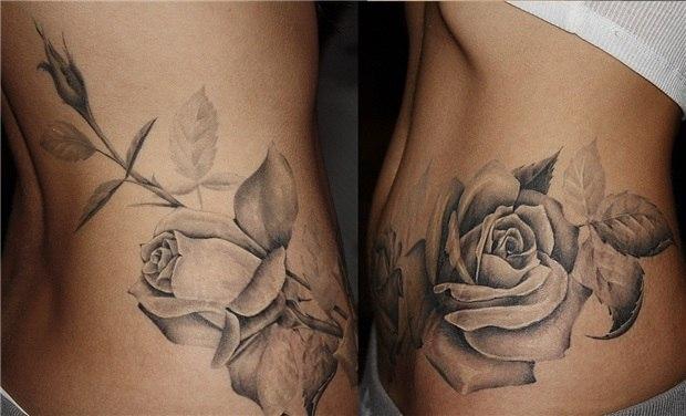 Розы татуировки для девушек
