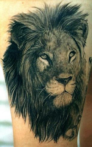 Тату льва на спине у девушки фото