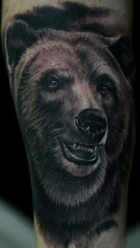 Тату на руке медведь значение тату