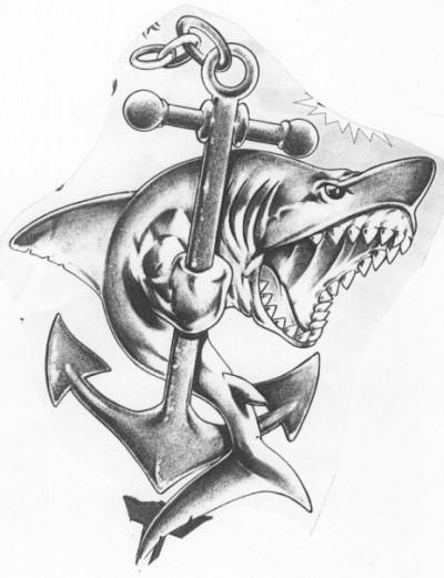 тату эскизы акулы: