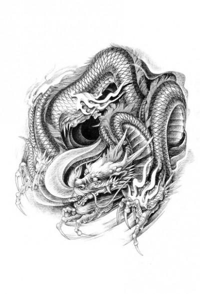 Тату дракон значение тату драконы
