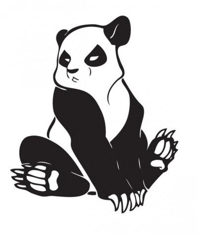 картинки черно-белые панда
