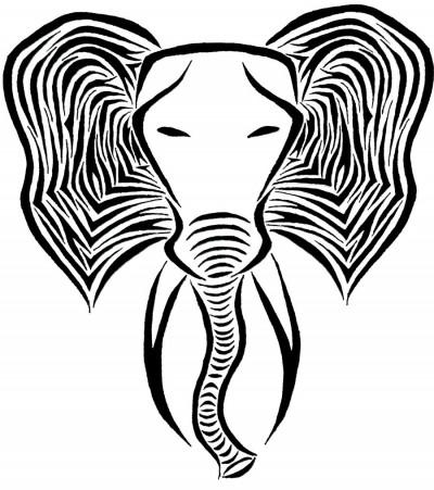 слон тату эскиз: