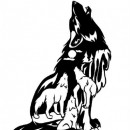 Тату эскизы волка с луной