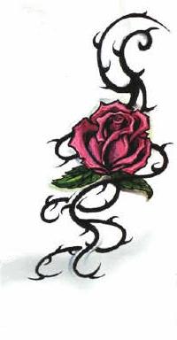 Стиль тату с розами