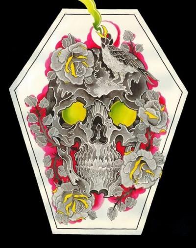 Цветной эскиз тату в виде изображения
