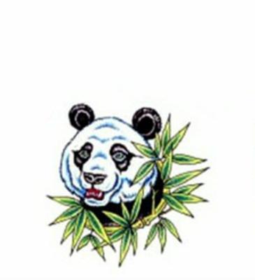 Цветной эскиз татуировки панда с