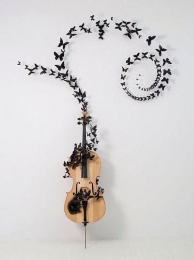 Тату гитара и бабочки значение тату