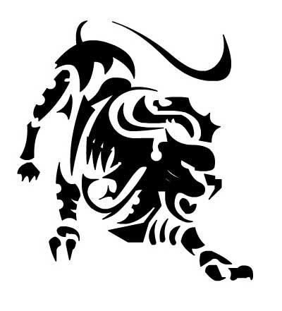 Эскиз тату с изображением льва