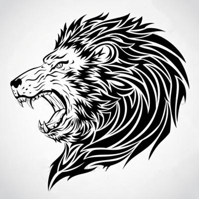 Эскиз тату злой лев значение тату львы