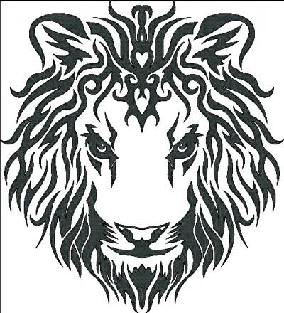 Эскиз татуировки голова льва