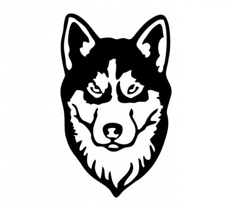 Эскиз татуировки головы собаки