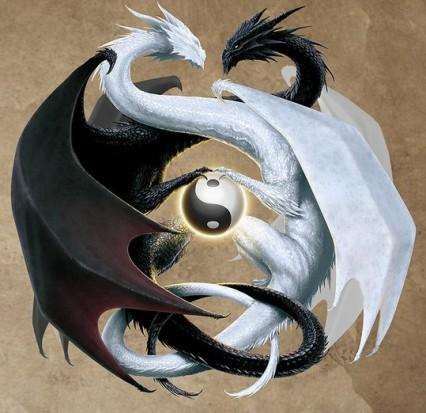 Татуировки Инь-Янь Драконы