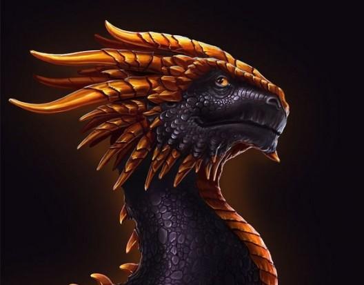Рисунок дракона цветной