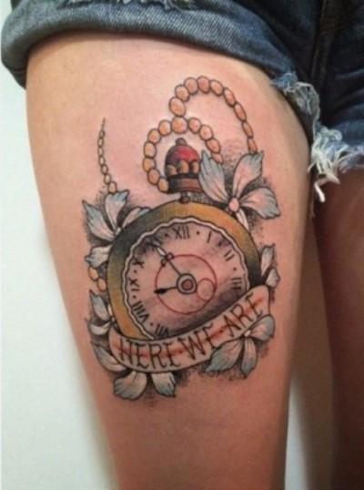 эскизы тату часы: