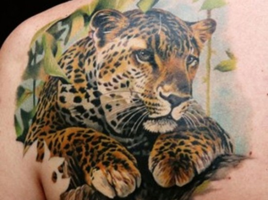 Тату леопарда на спине значение тату