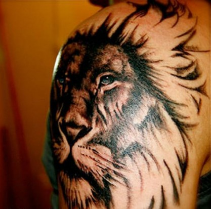 Тату лев на плече парня значение тату