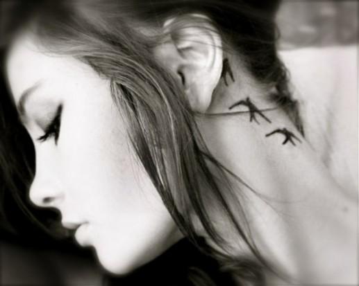 эскизы татуировок ласточка: