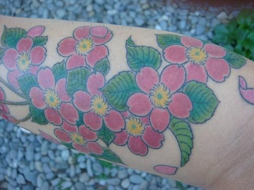 Фото тату цветы своими руками