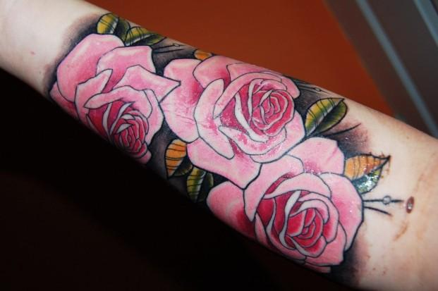 Тату розы значение тату на руке