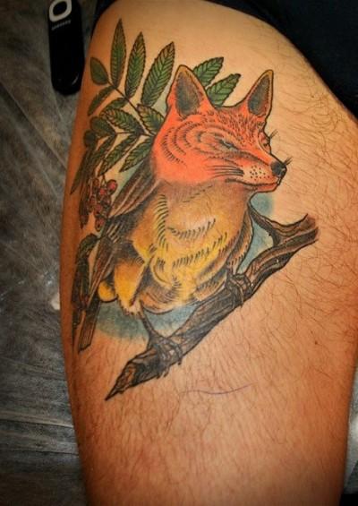 Татуировка лиса