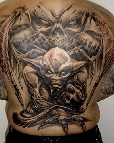 Тату демон значение тату на спине