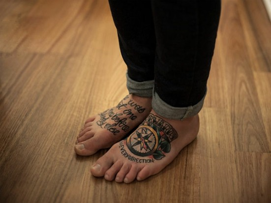 Татуировки на ступне для мужчин