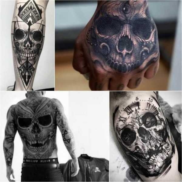 Фото и эскизы тату череп Что значит татуировка череп
